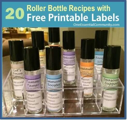 Roller Bottle Blend Recipes with Free Printable Labels   Roller