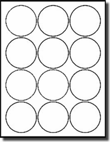 Glossy White Printable Sticker Labels 50 Sheets 2 Inch Round 4220GW