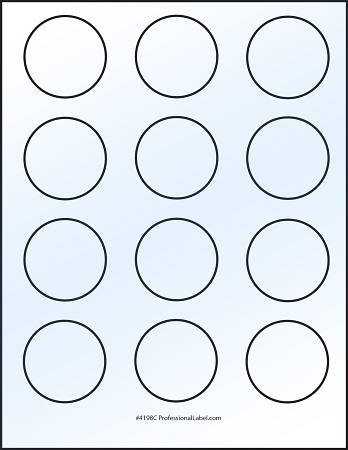 Matte White Printable Sticker Labels 100 Sheets 2 Inch Round 4198M