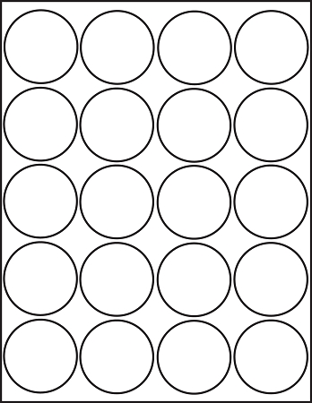 2 inch Round Labels | Round White Labels | Desktop Supplies