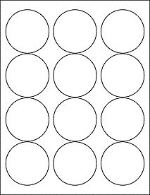 Glossy Clear Printable Sticker Labels 50 Sheets 2 Inch Round 4198C