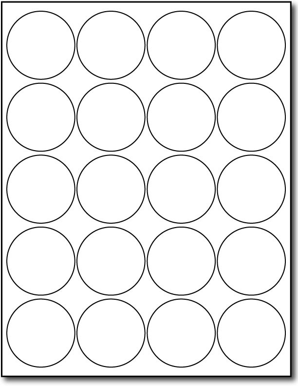 Printable 2 Round Label Template