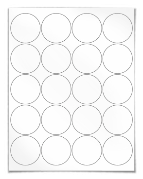 Printable 2 Round Label Template PDF