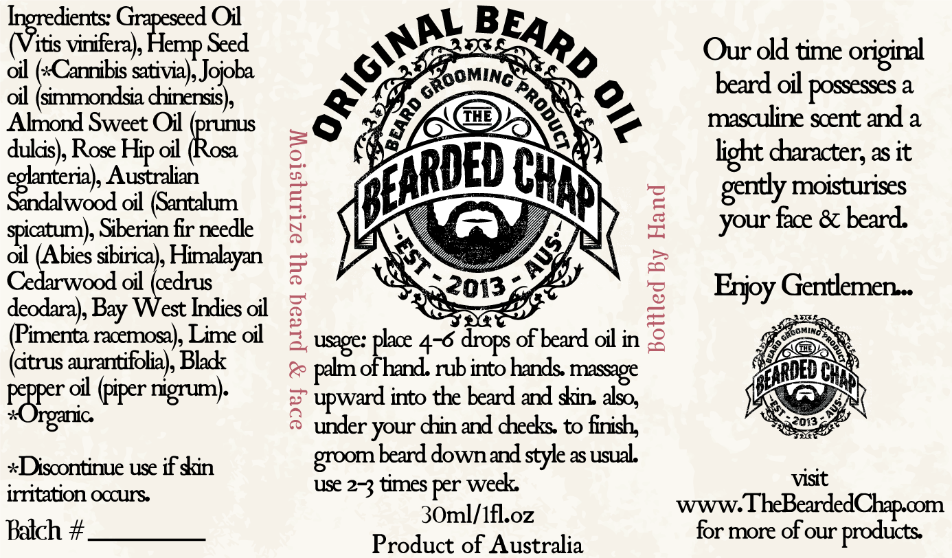 Masculine, Conservative Graphic Design for The Bearded Chap by