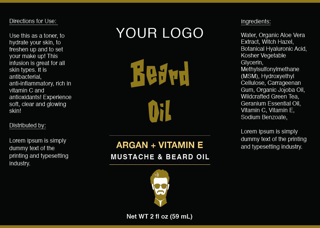 Beard Oil Label ID26 | aiwsolutions