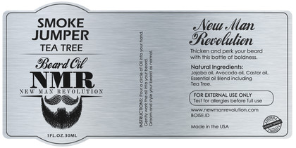 Beard Oil Label Template