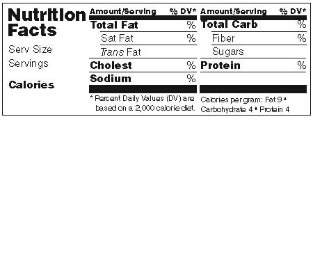 Nutrition Label Blank tempo Inspiration