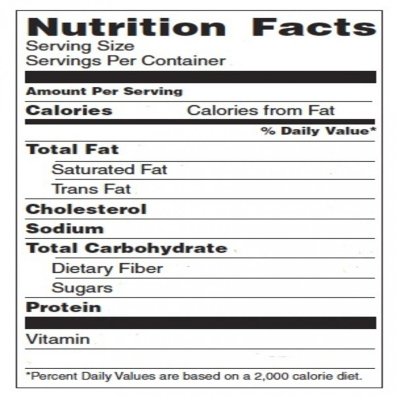 Free Nutrition Facts Worksheet