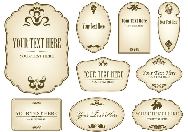 Vintage Bottle Label Templates Free Printable PSD, Word, PDF