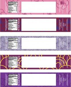 4 Designer | Creative number label design vector