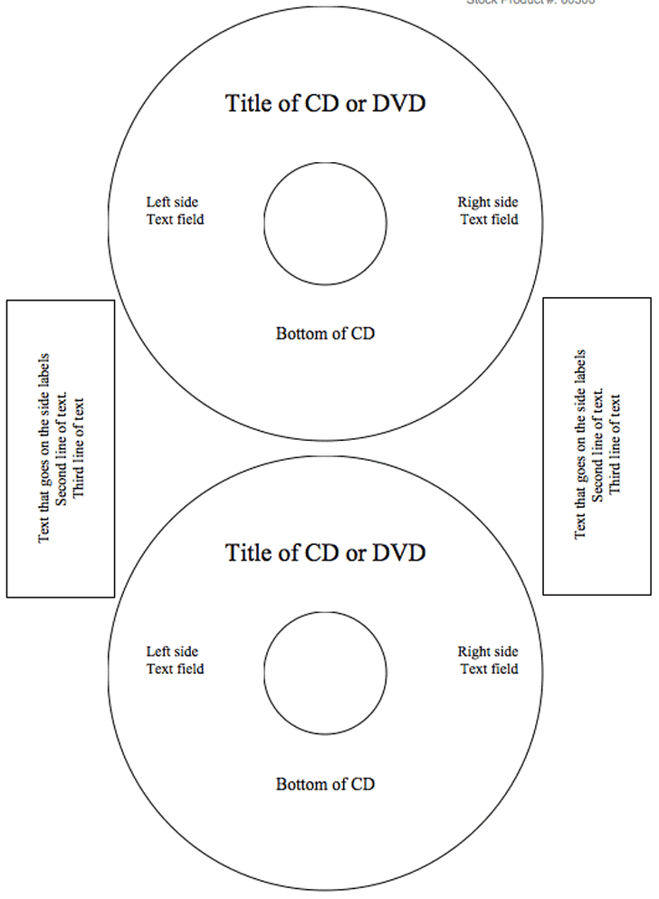 DVD Label Template Marketing Materials