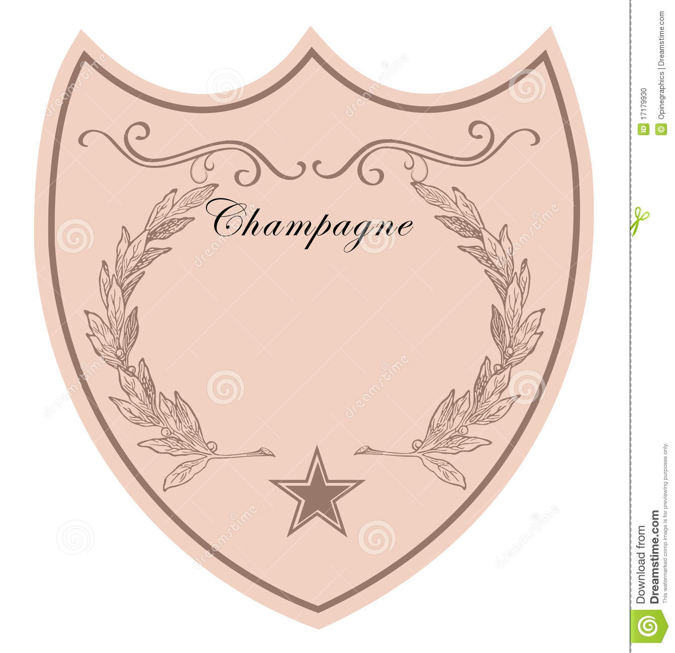 FREE wedding champagne labels (retro style template). Your