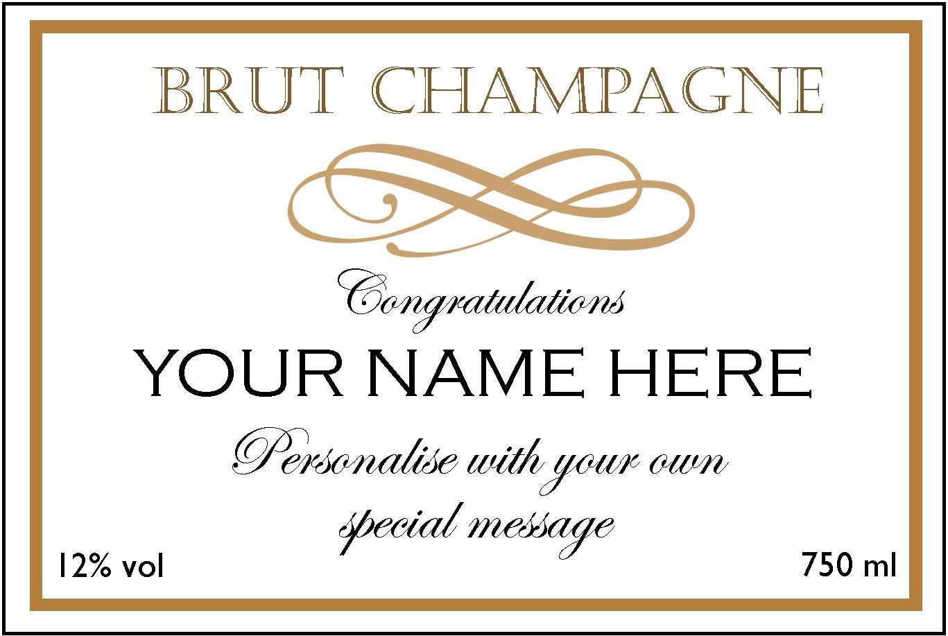 Champagne Label Template