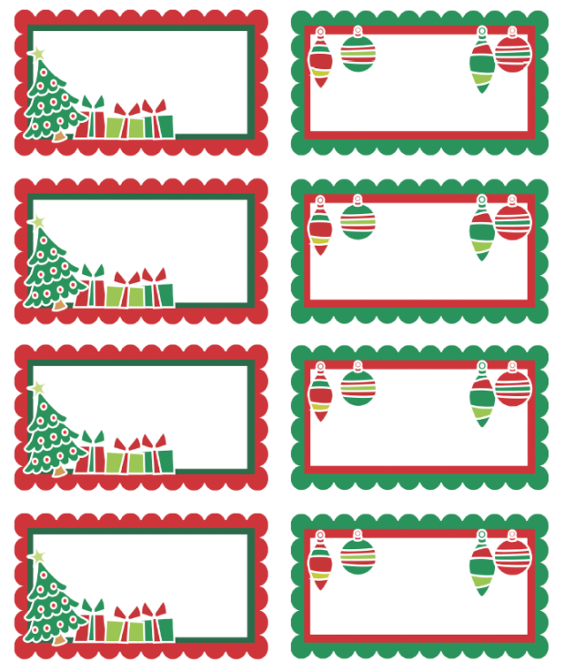 Christmas Label Printable from Santa