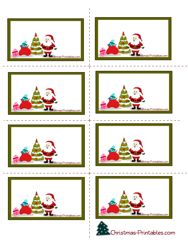 Christmas Label Printable