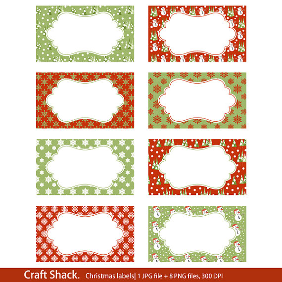 Printable Christmas labels Print your own labels