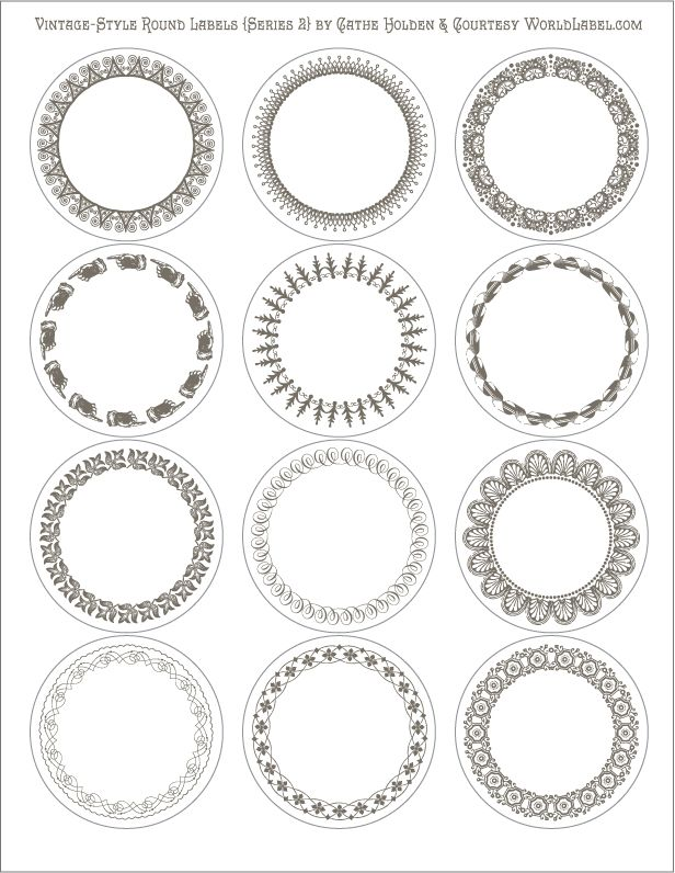 Round Labels and Round Label Template Printable