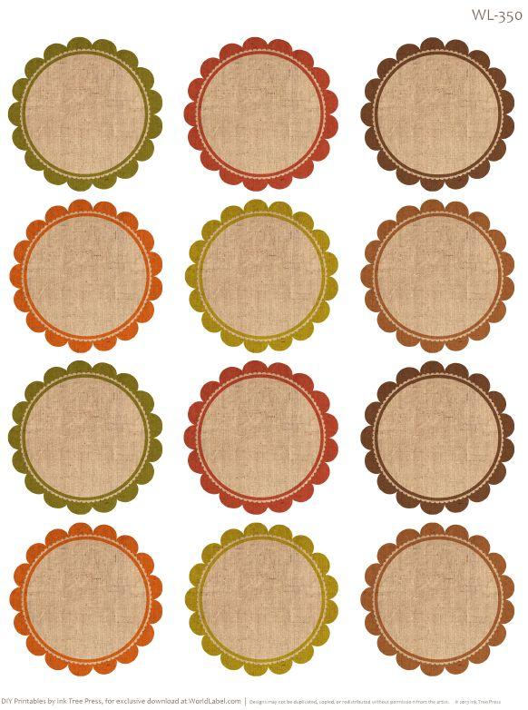 unique Round labels ideas on Pinterest