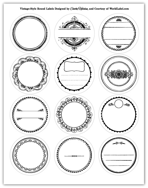 Printable Circle Labels Maestro