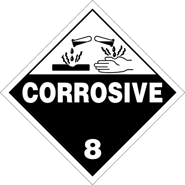 Corrosive Label Printable