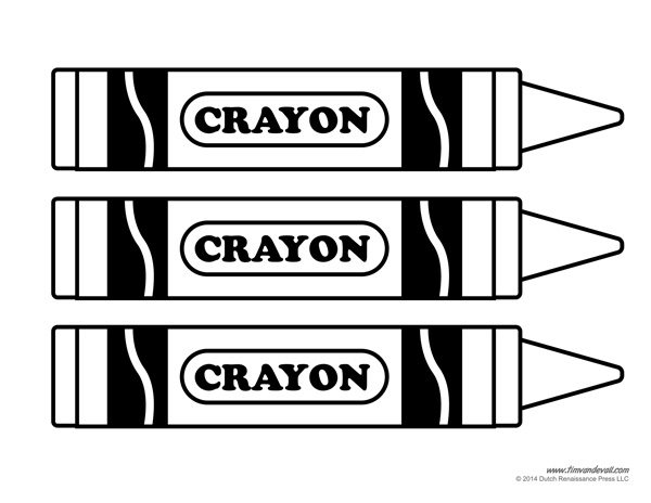 Crayon Label Template costume pattern