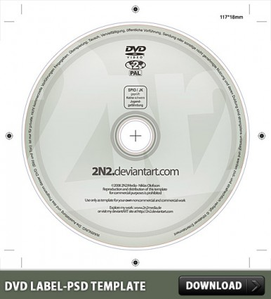 DVD Label Free PSD Template | free psd | UI Download