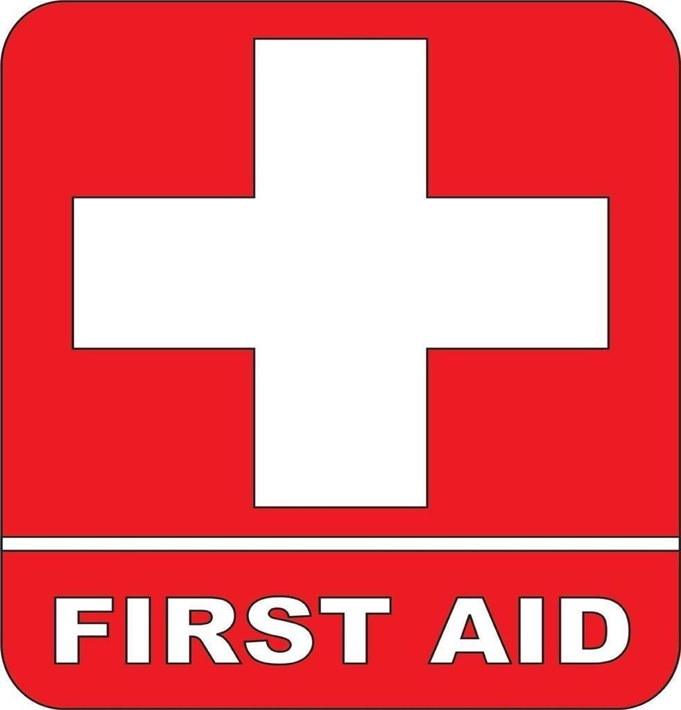 First Aid Down Arrow Kit Sign, SKU: S 1775 MySafetySign.com