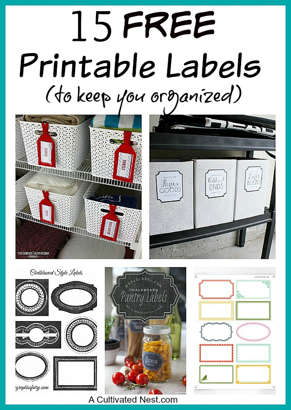 Free Printable Labels For Organizing