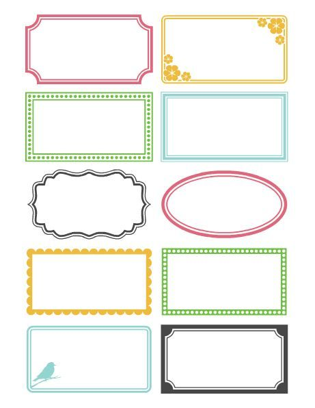 Printable Notepads and Labels