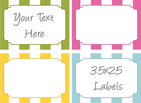 Free Printable Labels for Bake Sale Goodies