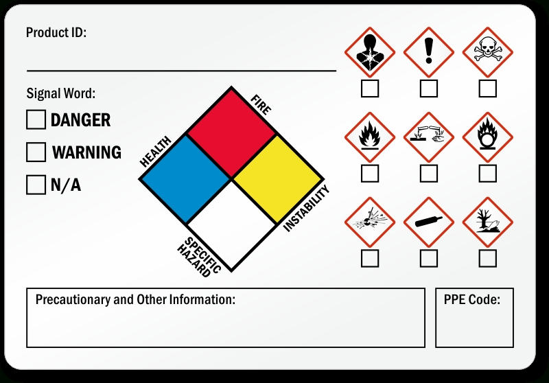 Ghs Labels – Secondary Ghs Labels in Ghs Label Template
