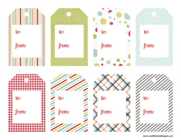 Free Gift Label Printable