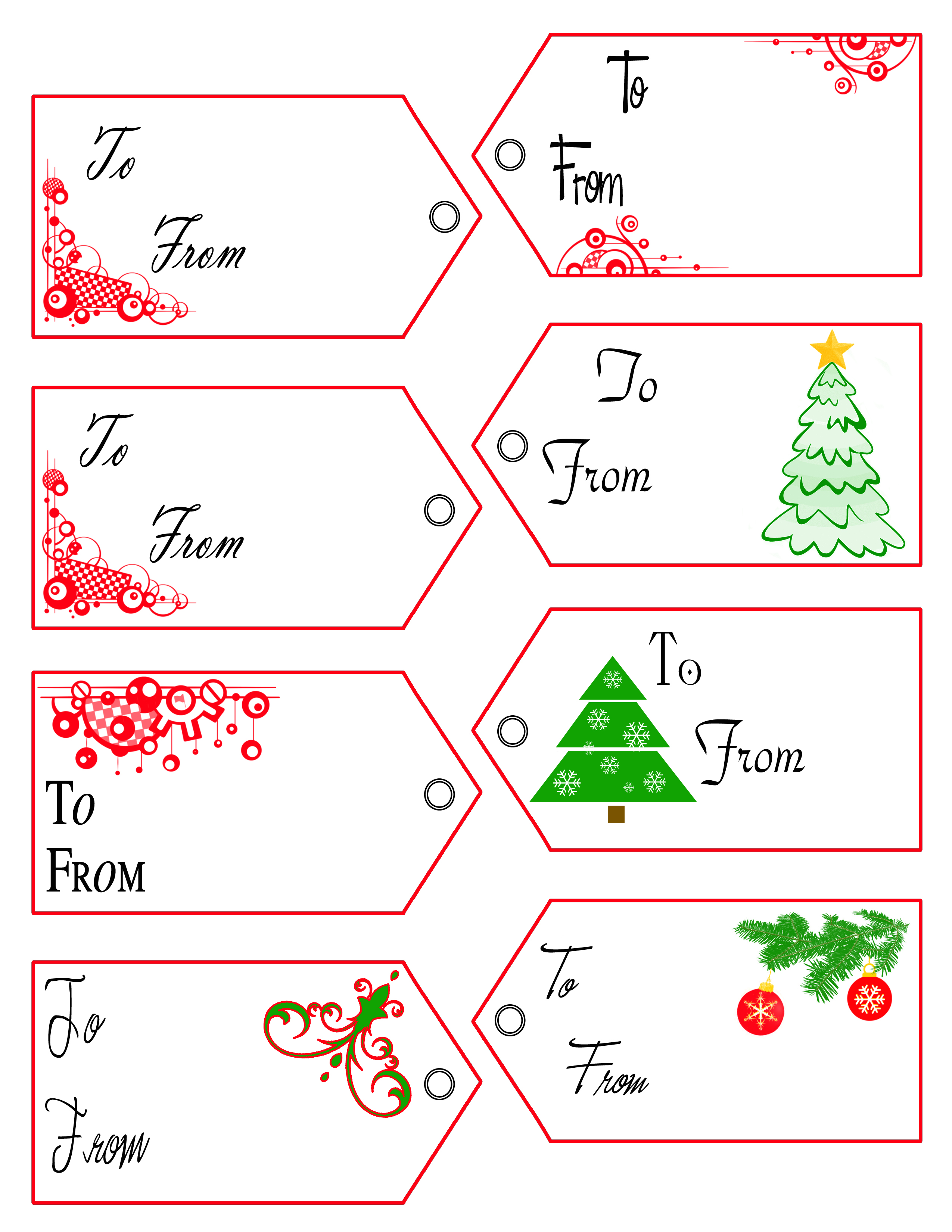 Free Download Holiday Gift Label Template