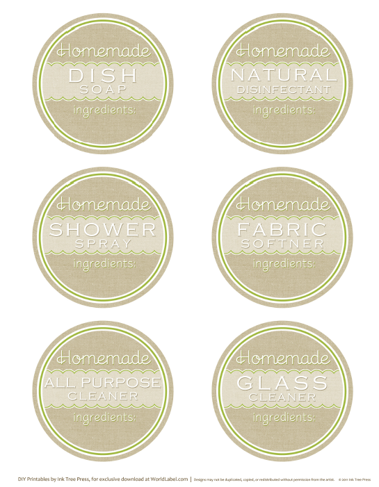 Designed Label Templates for Soap and Candles