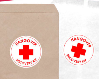 Hangover Kit Label Template for Bachelorette Party
