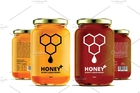 Honey Labels v2 ~ Templates ~ Creative Market