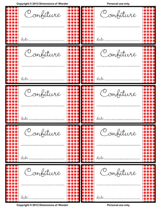 Free Printable Jar Labels for Home Canning