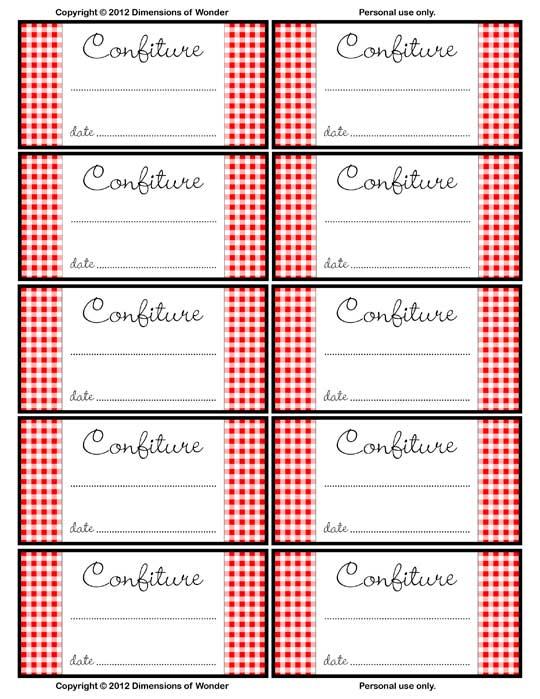 Jar Label Templates Download Jar Label Designs