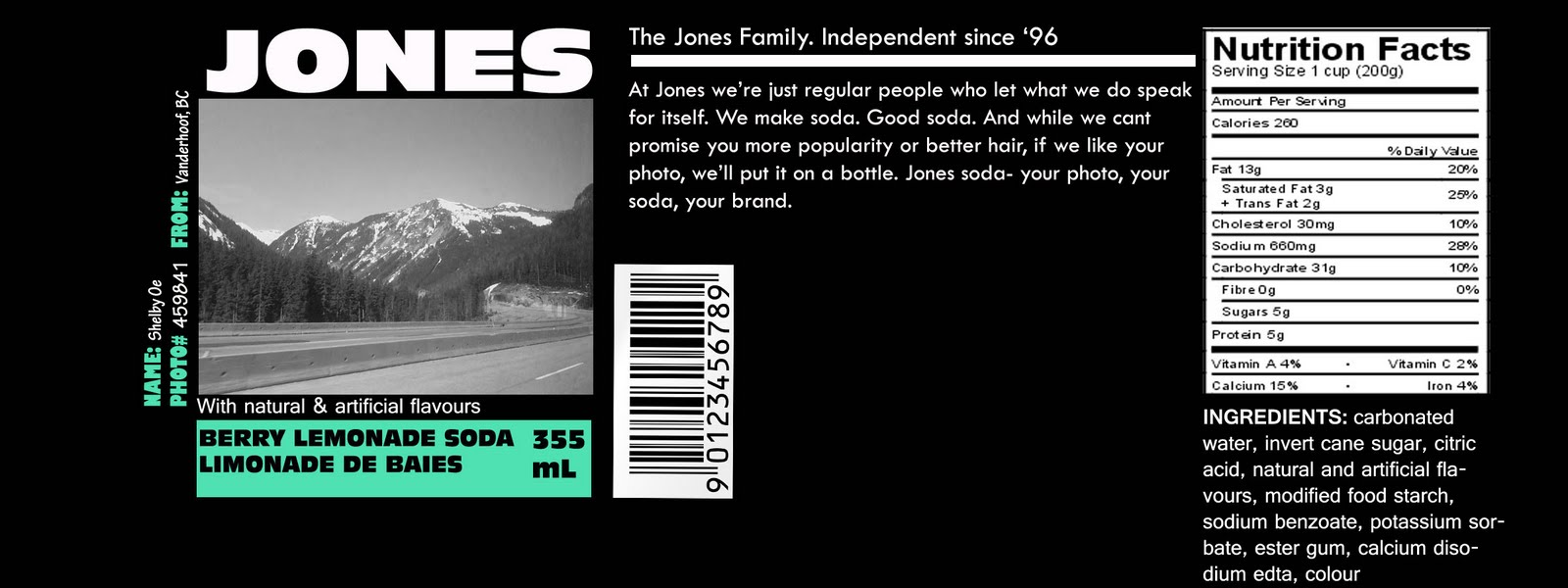 Shelby's blog: jones soda label again ;)
