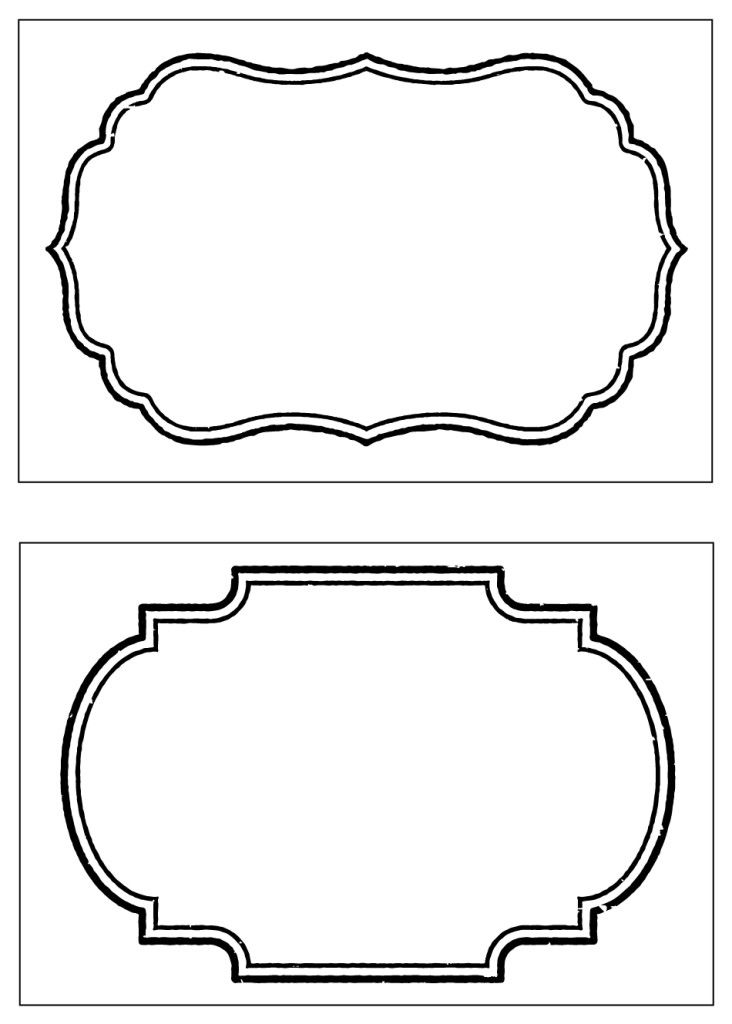Free Printable Label Tag Template