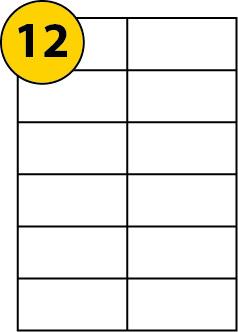 A4 105 x 50mm Size Label 12 labels per sheet