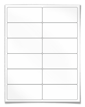 Label Template 12 Per Sheet