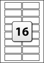 Printable Label Template 16 Per Sheet