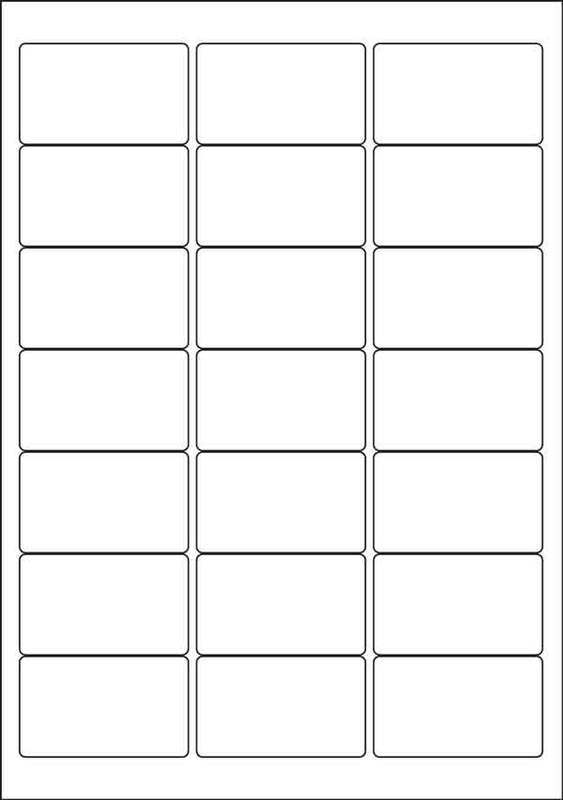 Label Template 21 Per Sheet