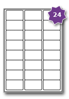 Gloss White Paper Label Template 24 Per Sheet