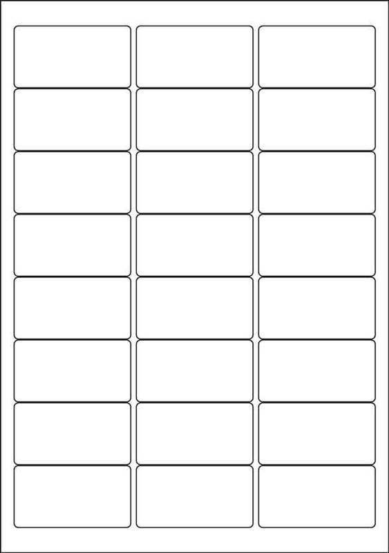 Label Template 24 Per Sheet