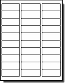 Label Template 30 Per Sheet Printable