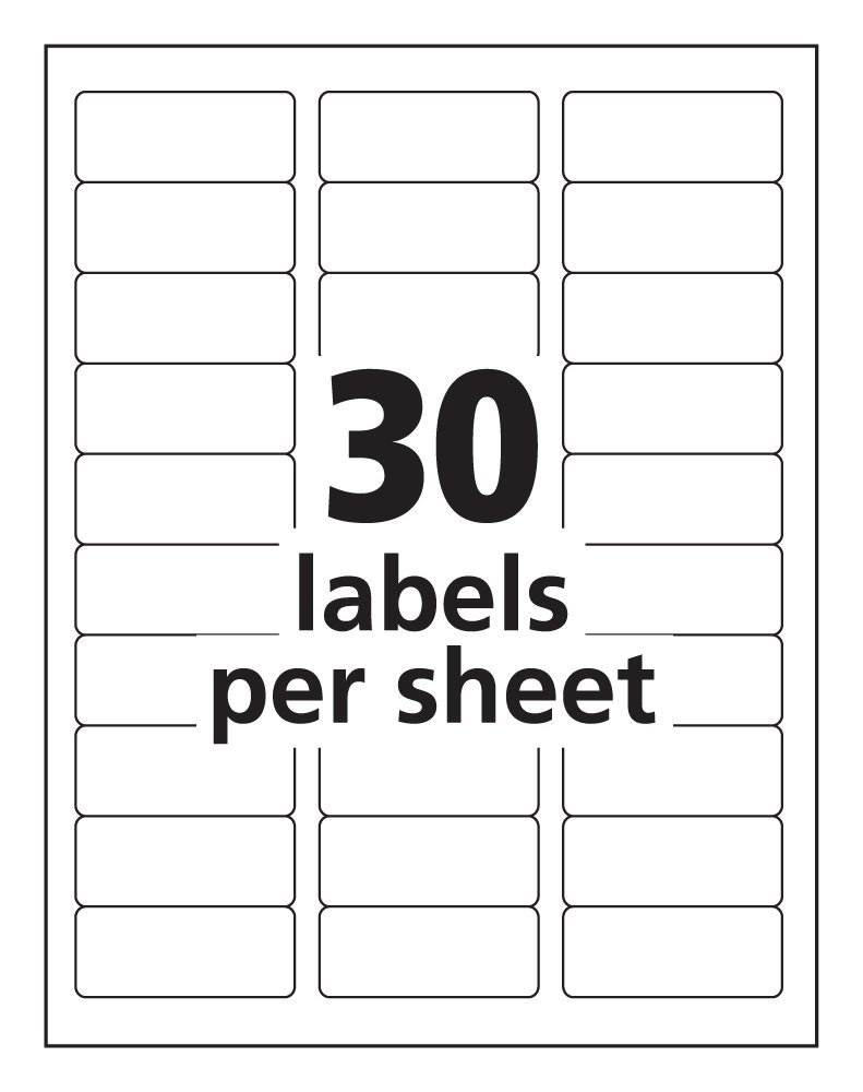 How to set up a Word Blank Label Template 30 Per Sheet