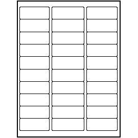 Blank Download Label Template 30 Per Sheet