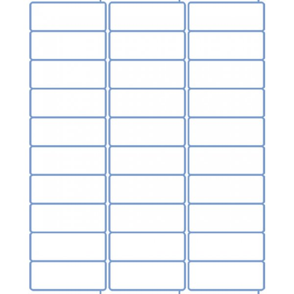 Label Template 30 Per Sheet